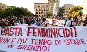 Demonstration gegen zunehmende Morde an Frauen