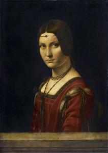 Leonardo da Vinci la Belle Ferroniere (Louvre, Paris)