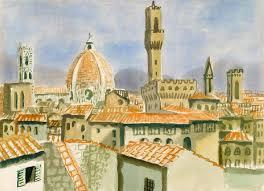 Eduard Bargheer - Ansicht von Florenz