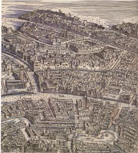 Historische Ansicht von Venedig mit dem Ghetto