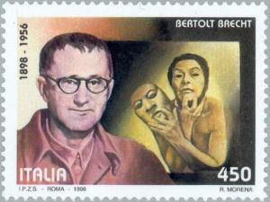 Bertolt Brecht - italienische Briefmarke 1998