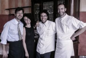 Das Team im Nuovo Macello - rechts Giovanni Traversone