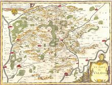 Das Valois nach einer Karte von 1620