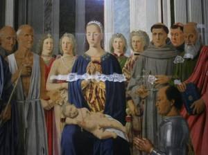 Japanpapier damit die Farbe nicht abblättert - die Pala Montefeltro von Piero della Francesca (um 1474)