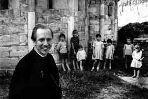 David Maria Turoldo in Fontanella Sotto il Monte Anfang der 1960er Jahre